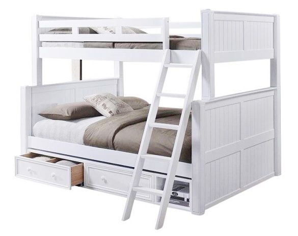 Beatrice Xl Bunk Beds White With Images White Bunk Beds Queen