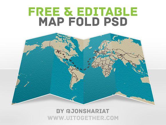 Free psd map fold psd freebie free psd map fold gumiabroncs Choice Image