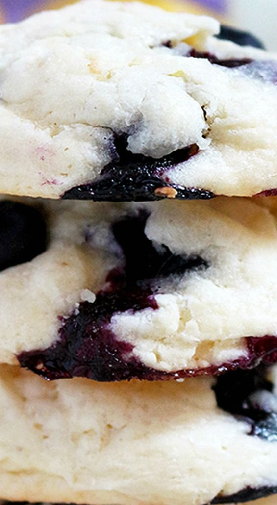 Blueberry Lemon Cheesecake Cookies