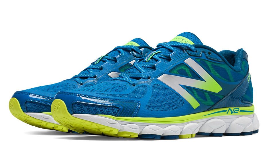 New Balance 1080v5, Blue Sapphire with Yellow