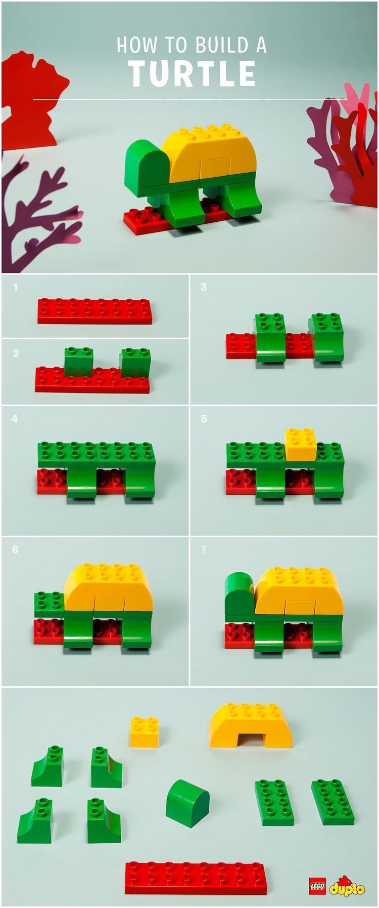 Lego Duplo Instructions: Animals | The Bean & The Belle | Lego duplo