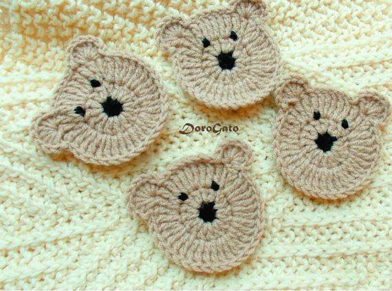 Set of 4 Handmade crochet teddy bear Crochet by ColorificThings #babysets