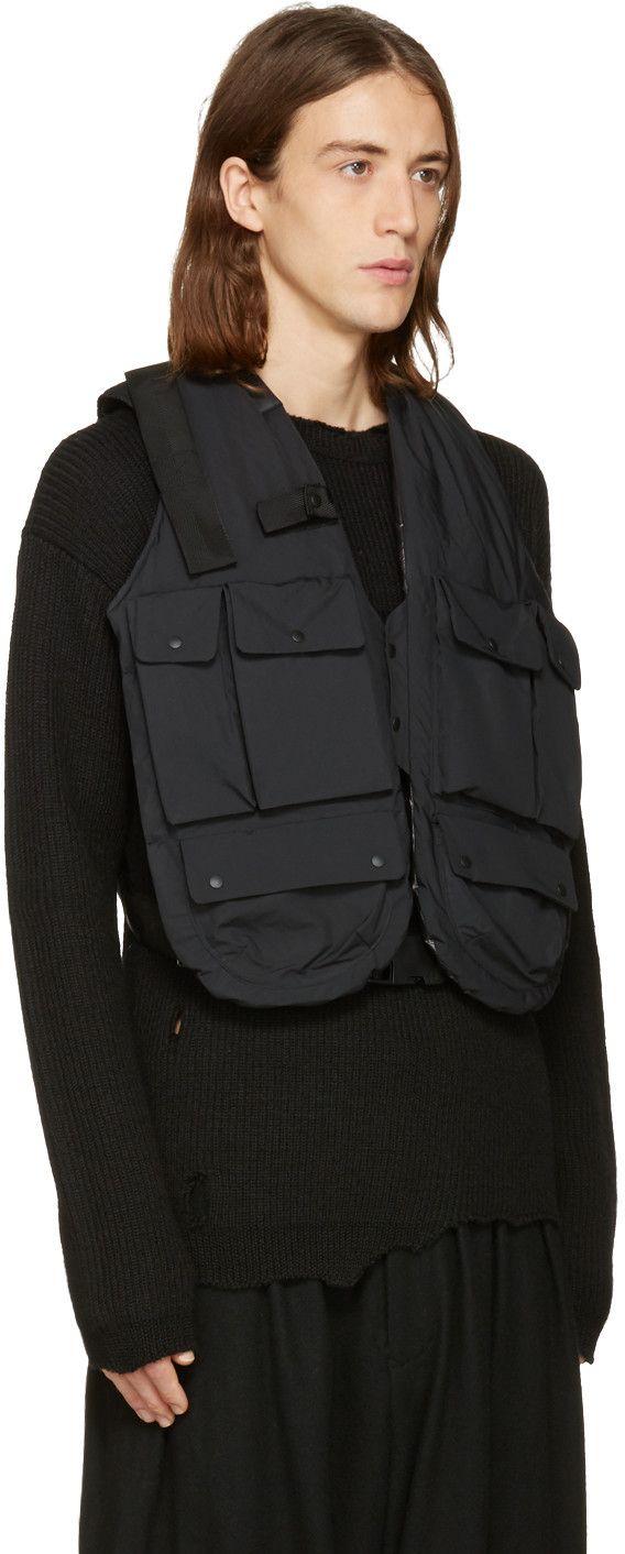 342c5b1ed4 Sasquatchfabrix - Black Insulation Technical Vest | Fashion in 2019 ...