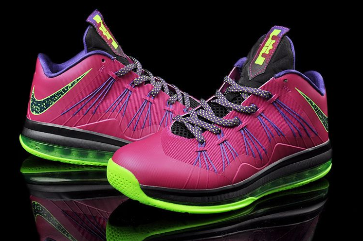Hot Sale Cheap Nike Air Max Lebron X Low Fireberry Electric Gree
