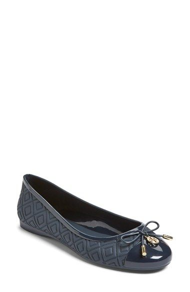 b7cf1f5ee38 Tory Burch  Jelly  Logo Ballet Flat (Women) available at  Nordstrom Looks  comfy.