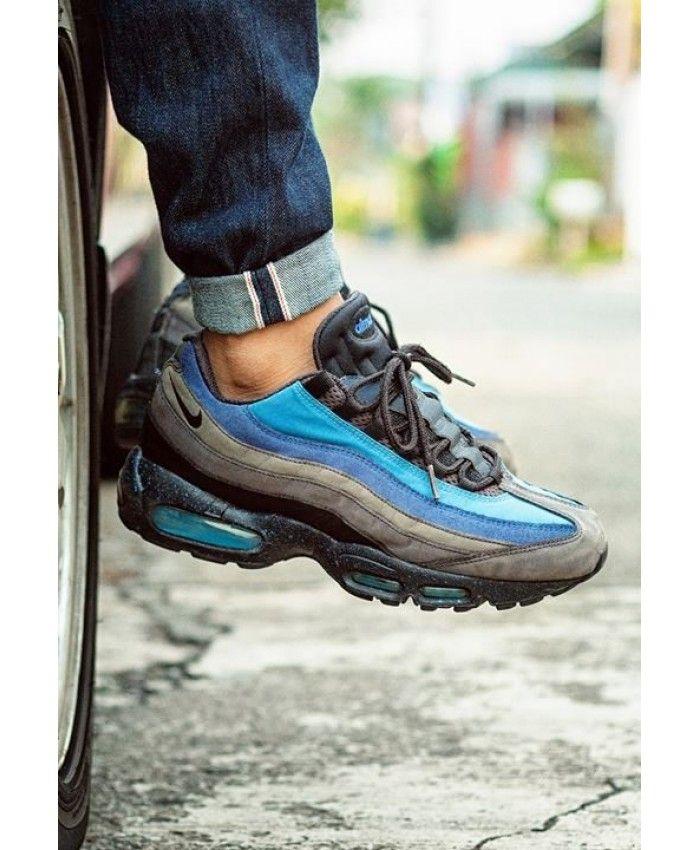 Nike Air Max 95 Blue Black Smoke Grey Trainer