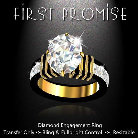 Exquisite First Promise Engagement Ring Gold