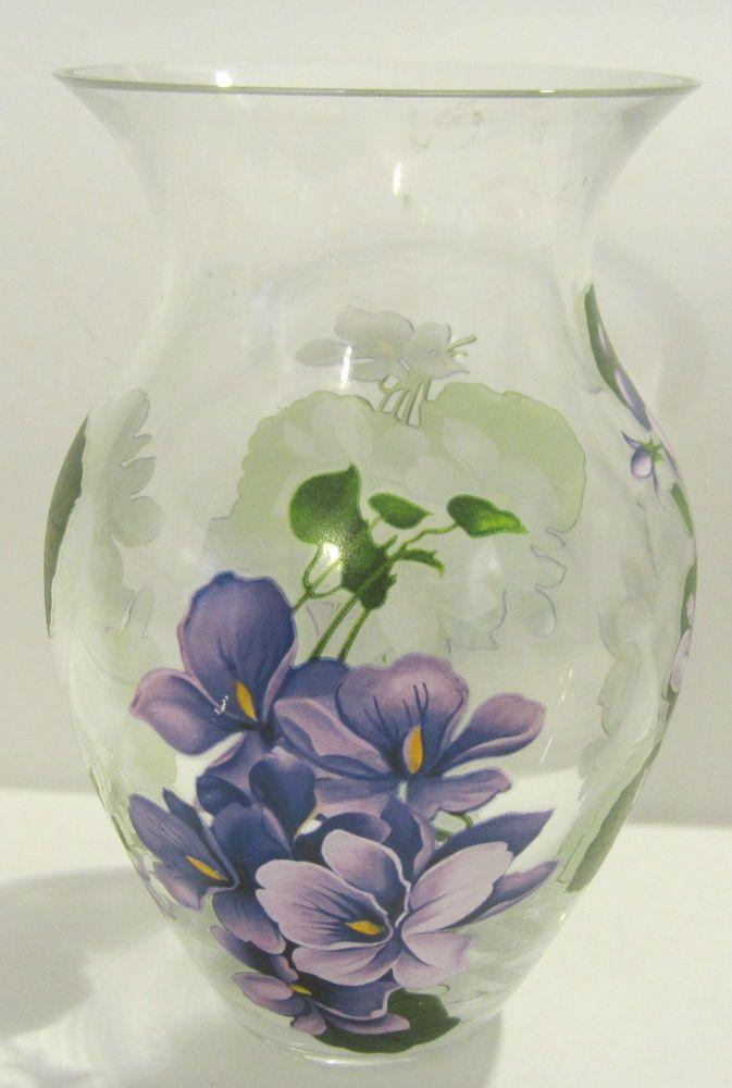 Teleflora Gift Clear Glass Purple Flower Vase China S Teleflora