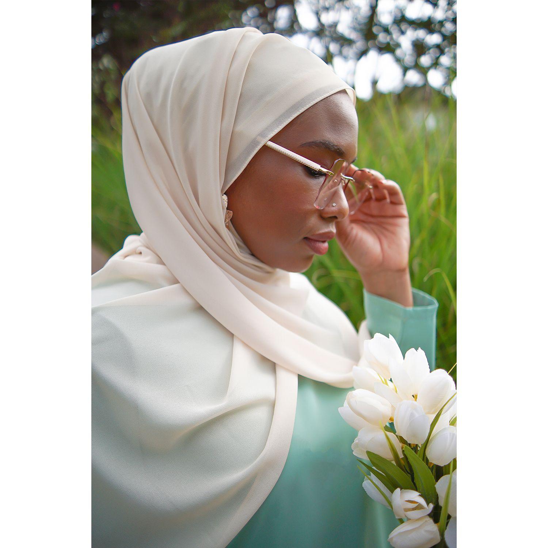 Photo of Light Nude Premium Luxury Chiffon Hijab | Modest Girlz