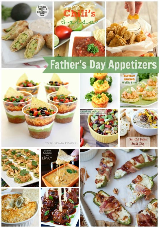 Fabulous fathers day appetizers padres bocadillos y da de los fathers day appetizers what a great assortment of crowd pleasing finger food forumfinder Image collections
