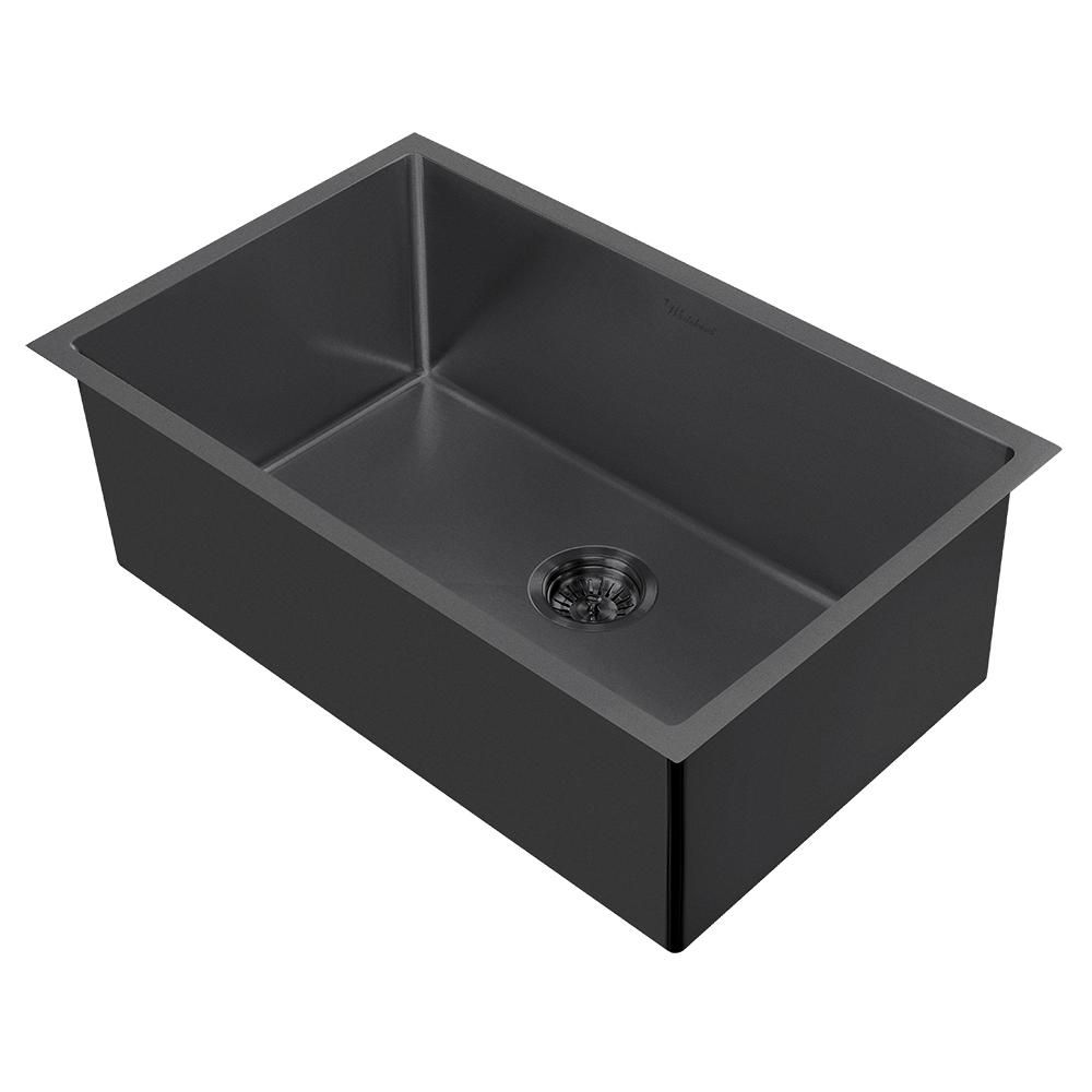 Noah Plus 16 Gauge Single Bowl Linen Textured Dual Mount Sink Set
