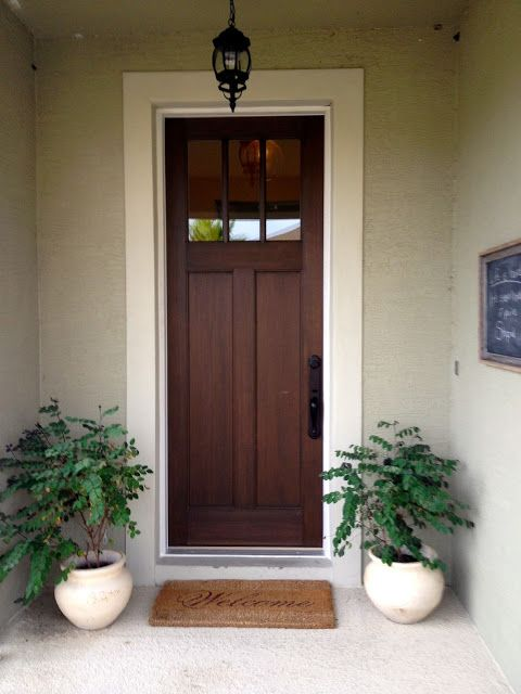 My Home Tour The First Year Overthrow Martha Craftsman Style Front Doors Exterior Front Doors Craftsman Front Doors