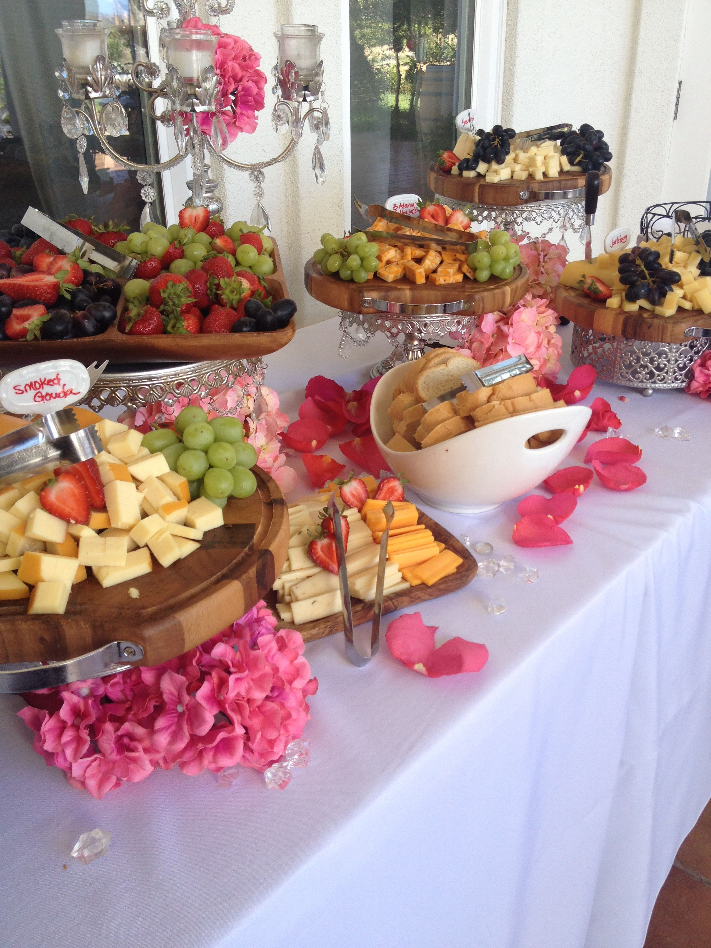 Beautiful Cheese Display For Wedding Appetizer Hour Wedding