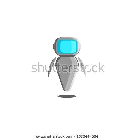 Robot Logo Robotic Innovation Technology Symbol Futuristic