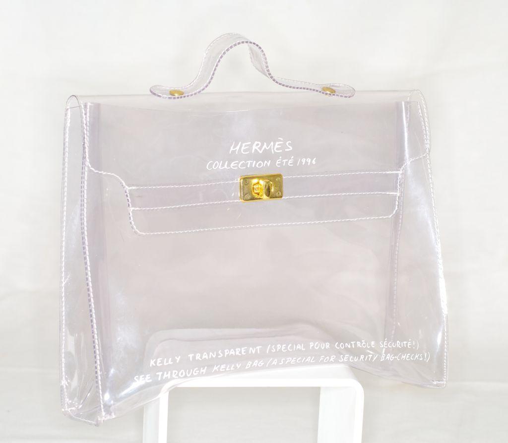 f8665f49835 Hermès collection été 1996 - Kelly transparent   Spécial pour contrôle  sécurité !