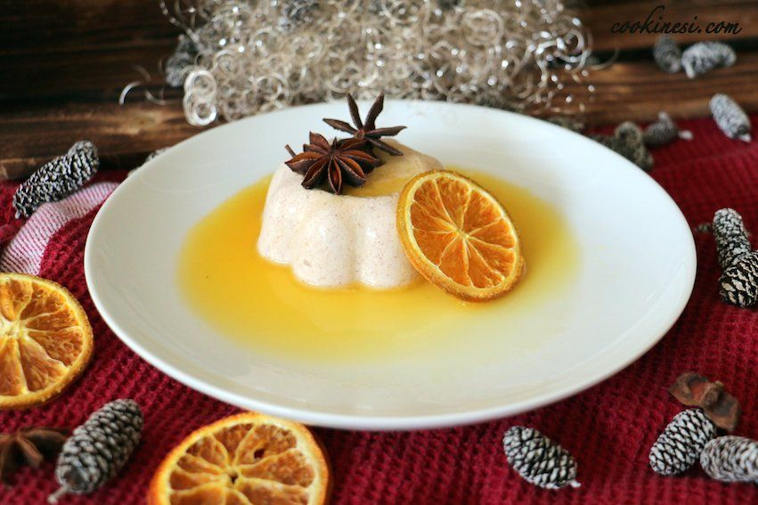 Wunderbares Weihnachtsdessert: Zimtköpfchen auf Orangensauce - Rezept auf der Page.... #Xmas #Weihnachten #Dessert #QimiQ