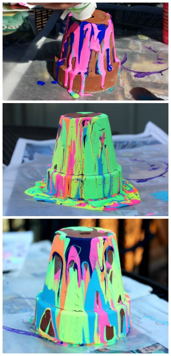 Photo of DIY Pour Painted Flower Pots