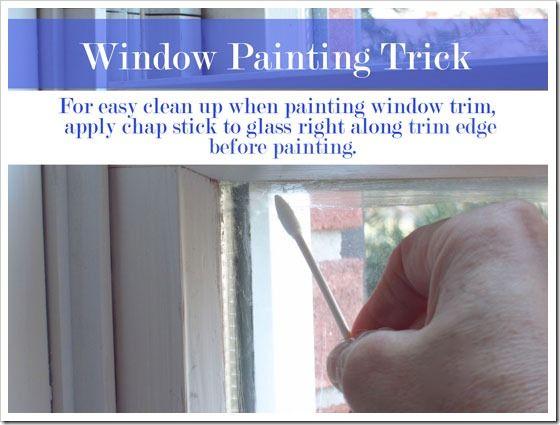 window trim painting tricks apply chap stick to glass genius