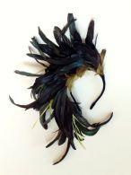 fascinator de plumas