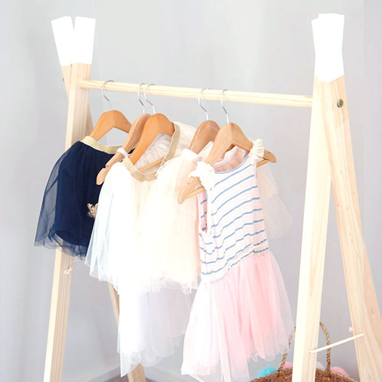 The A-Frame white dipped clothes rail is a contemporary alternative ...
