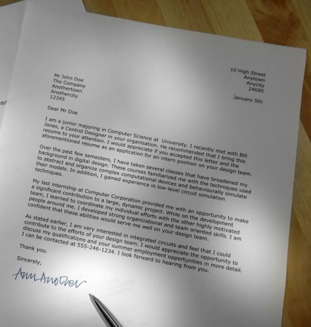 Use This Example to Write Your Own Job Application Letter - good faith letter sample