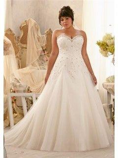 b8b8190929 Princess A Line Sweetheart Organza Lace Draped Plus Size Wedding Dress  Corset Back
