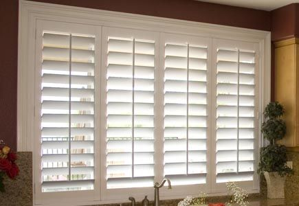 Plantation Interior Shutters Large Trim Around The Sides Of Window Really Dress Them Up