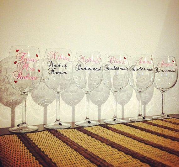 Personalized Title And Name Vinyl Decals  DIY Vinyl Stickers - Diy vinyl decals for wine glasses