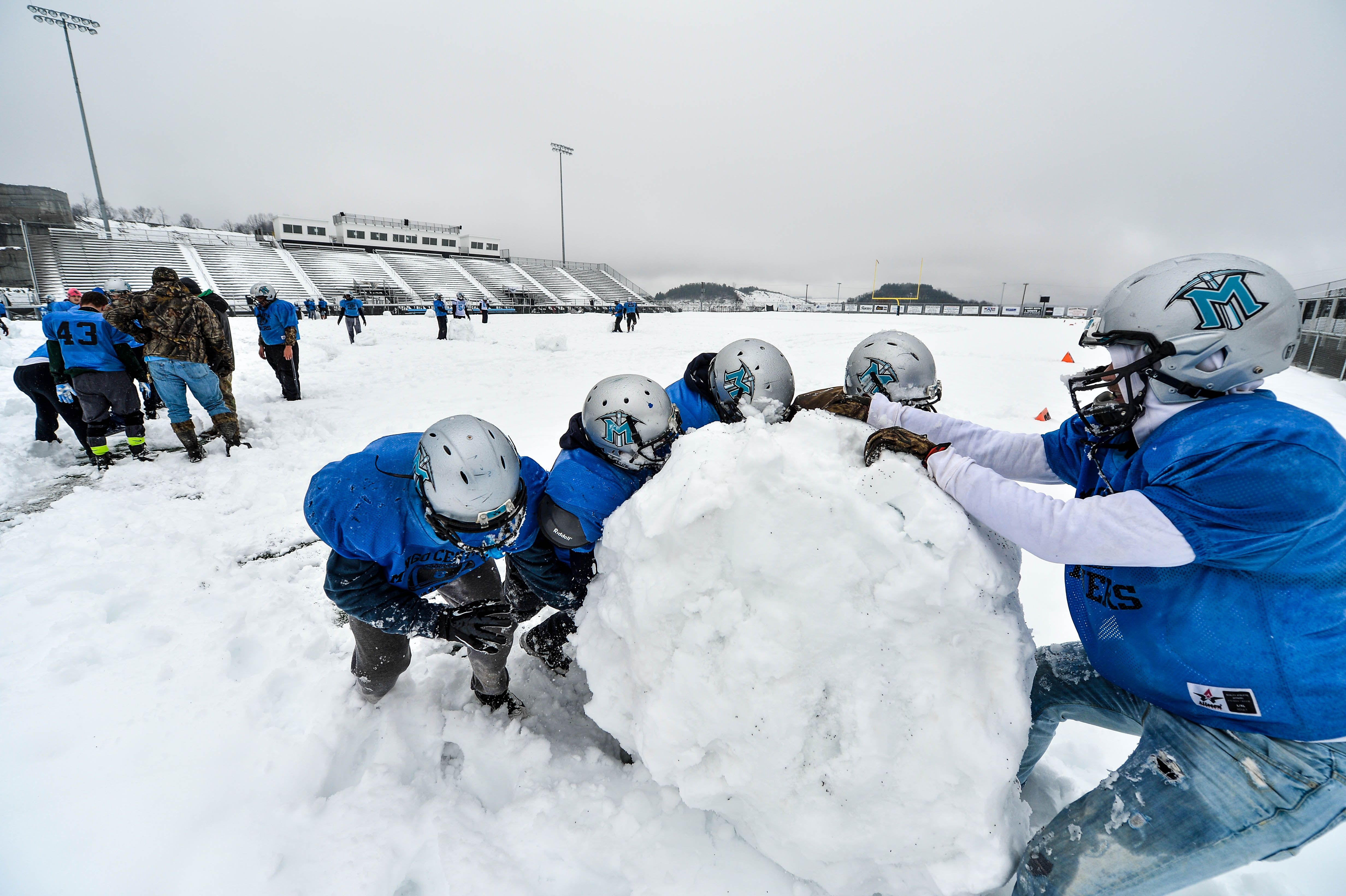 Check this out the football field at mingo central high