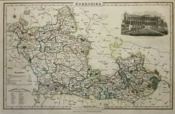Antique Maps Uk England Berkshire Map By James Pigot Ref