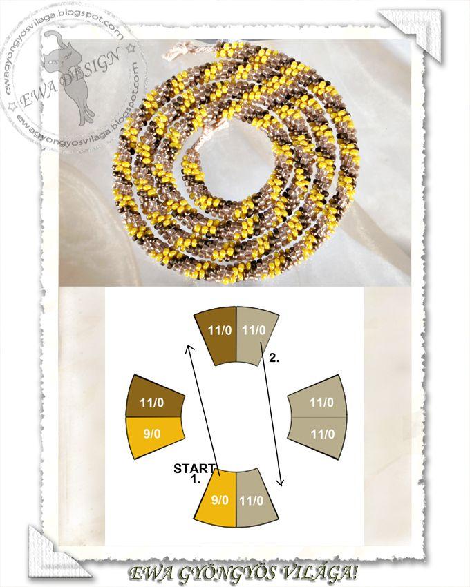 Ewa gyöngyös világa - she gives bead quantities and sizes on her blog