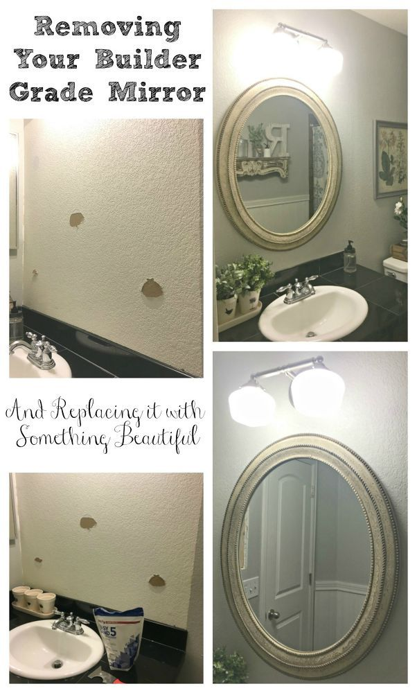 Safely Removing Your Builder Grade Mirror Sinks, Builder grade and