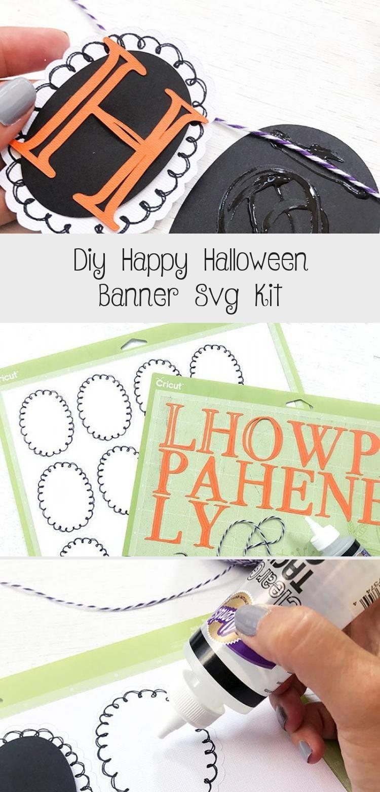 DIY Happy Halloween Banner SVG Kit - 100 Directions #bannerAnime #bannerImprimible #Burlapbanner #bannerLetters #Paperbanner #happyhalloweenschriftzug