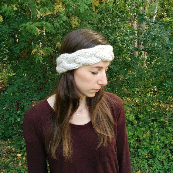 Chunky Cable Knit Ear Warmer Franzen Chunky Yarn Knitted