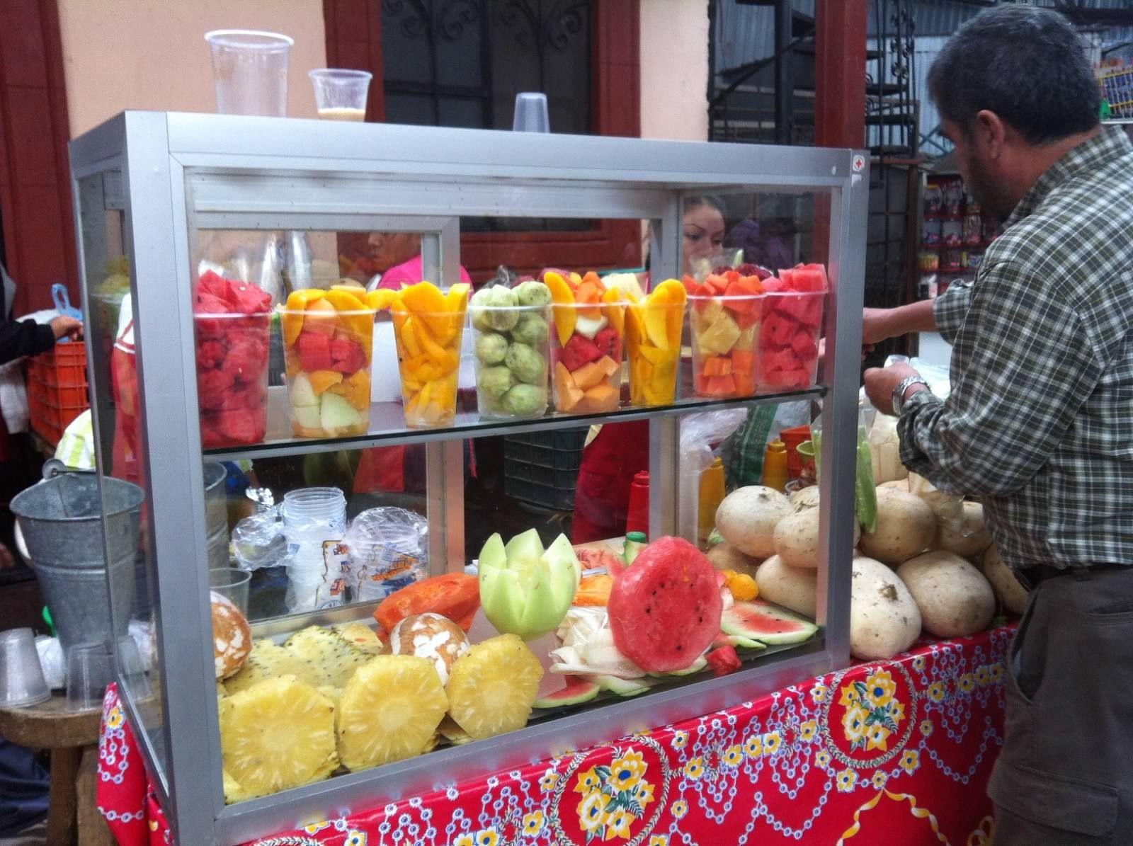 Fruit stand inside downtown market san miguel de allende