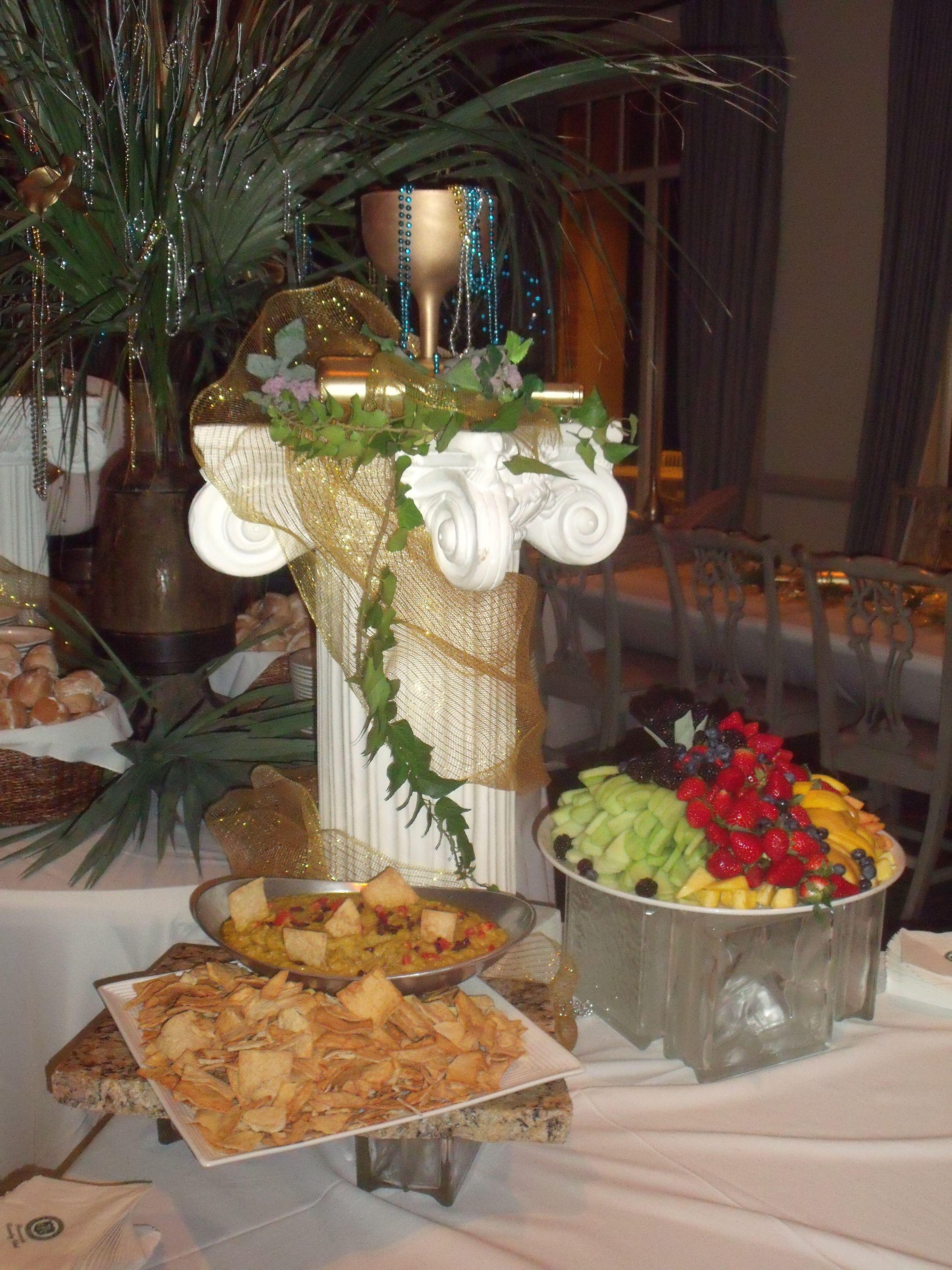 Greek Themed Buffet Wedding