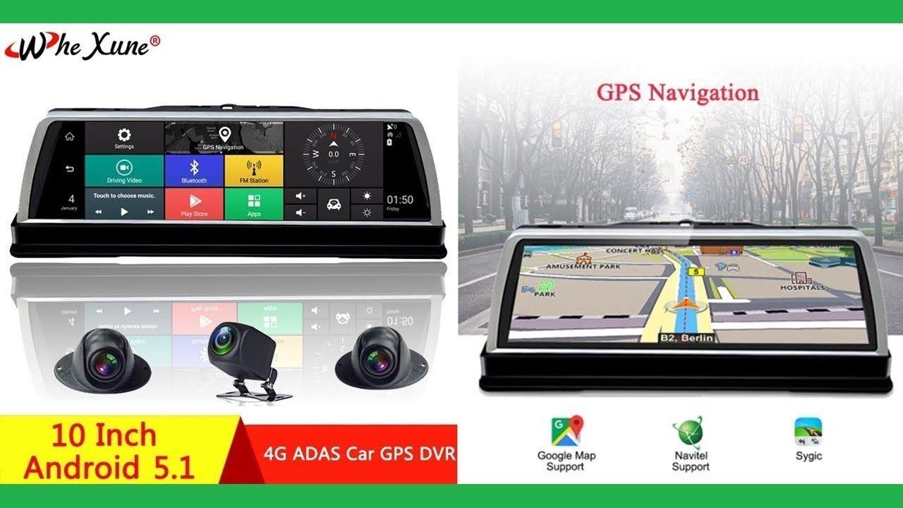 "10/"" Dual Lens 1080P 4G WiFi Android 5.1 Car Rearview Mirror DVR GPS Dash Camera"