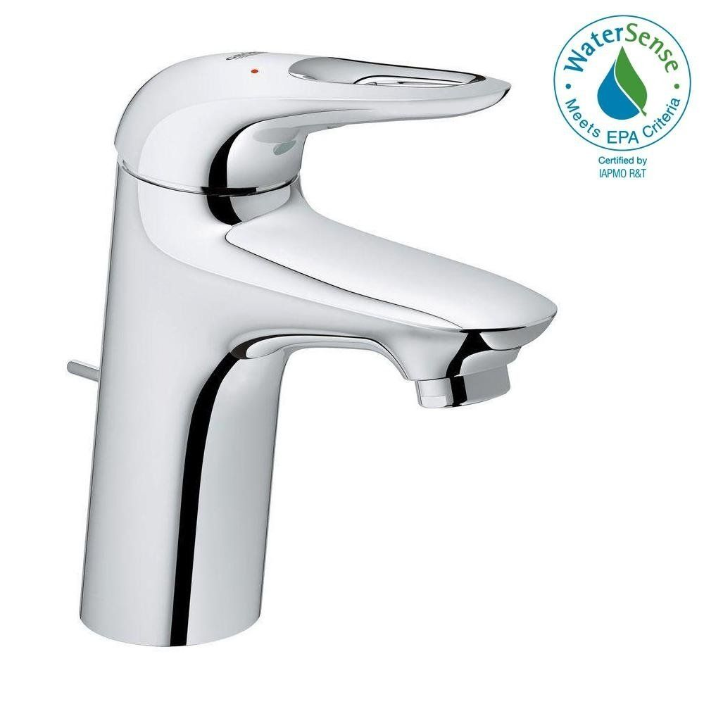 Grohe Eurostyle Single Handle Bathroom Faucet S Size Starlight
