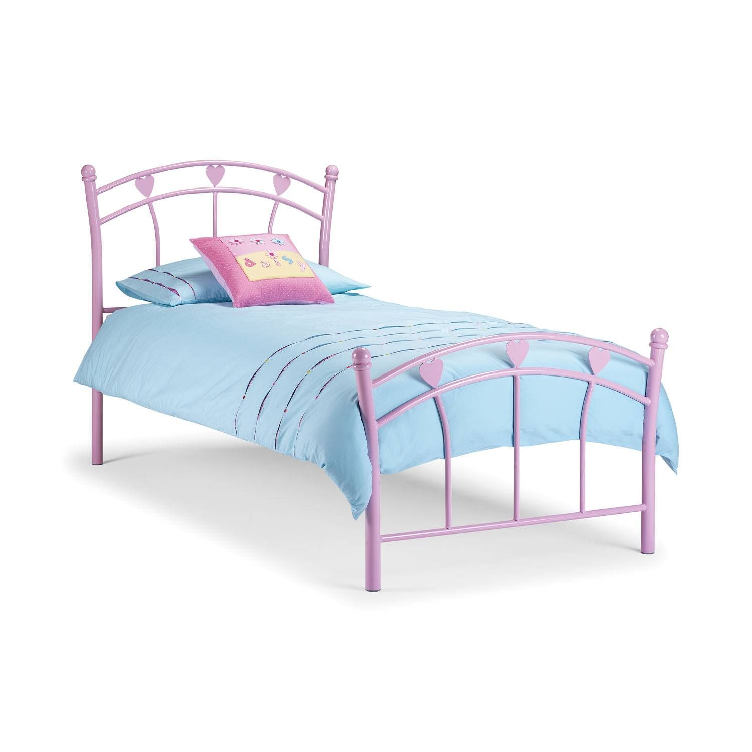 Julian Bowen Jemima Pink 90Cm Childrens Bed Frame
