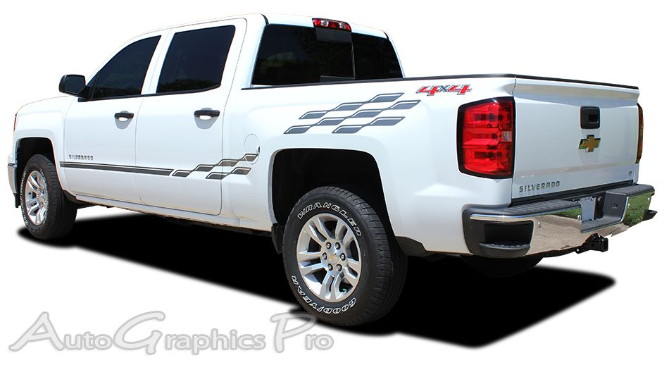 Chevy Silverado CHAMP Truck Side Vinyl Graphics - Chevy decals for trucksmore decalchevrolet silverado rally edition unveiled