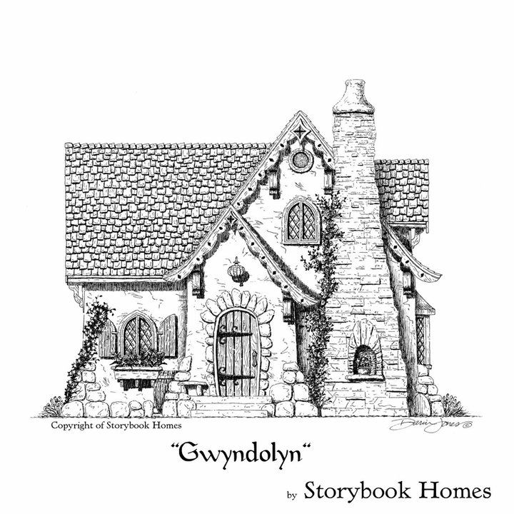 Home Betterfields Community Development Storybook House Plan Storybook Cottage Dream House Drawing