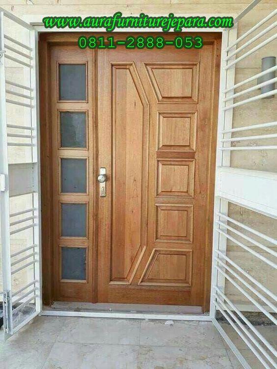 Kusen Pintu Utama Jati Minimalis Terbaru Aura Furniture Jepara Aura Furniture Jepara Minimalis Rumah Indah Pintu