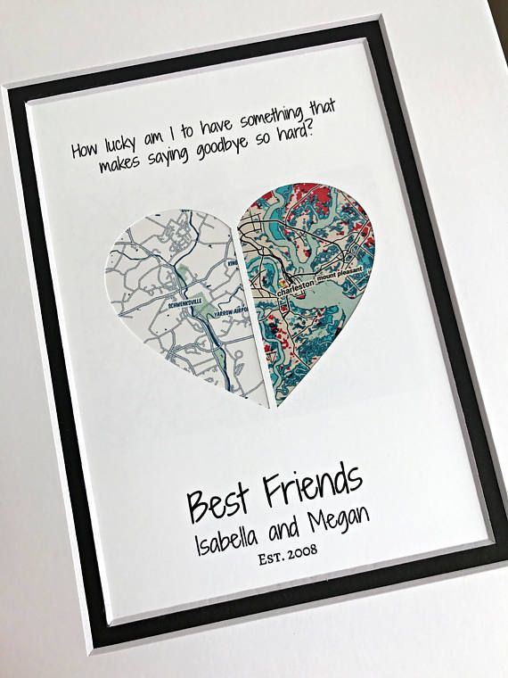 Best Friend Going Away Gift Personalized Christmas Gifts