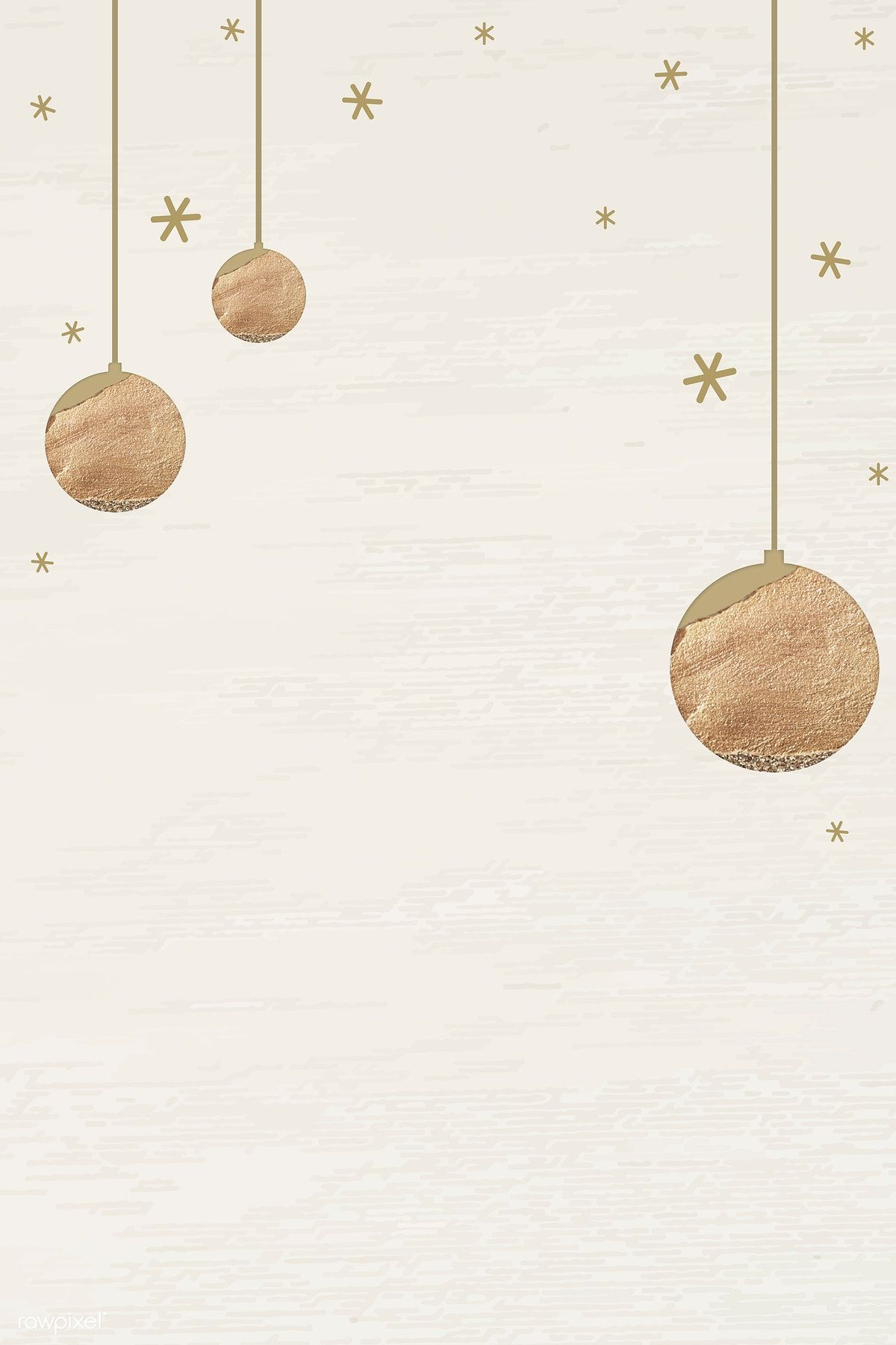 Download Premium Vector Of New Year Gold Balls With Shimmering Star Lights New Year Wallpaper Cute Christmas Wallpaper Wallpaper Iphone Christmas