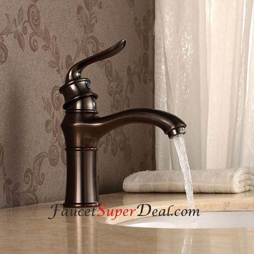 Antique Oil Rubbed Bronze Finish Single Handle Centerset Bathroom