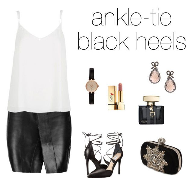 """""""evening look #9"""" by modznikola ❤ liked on Polyvore featuring Acne Studios, Steve Madden, Haridra, Alexander McQueen, River Island, Gucci, Barbour and Yves Saint Laurent"""