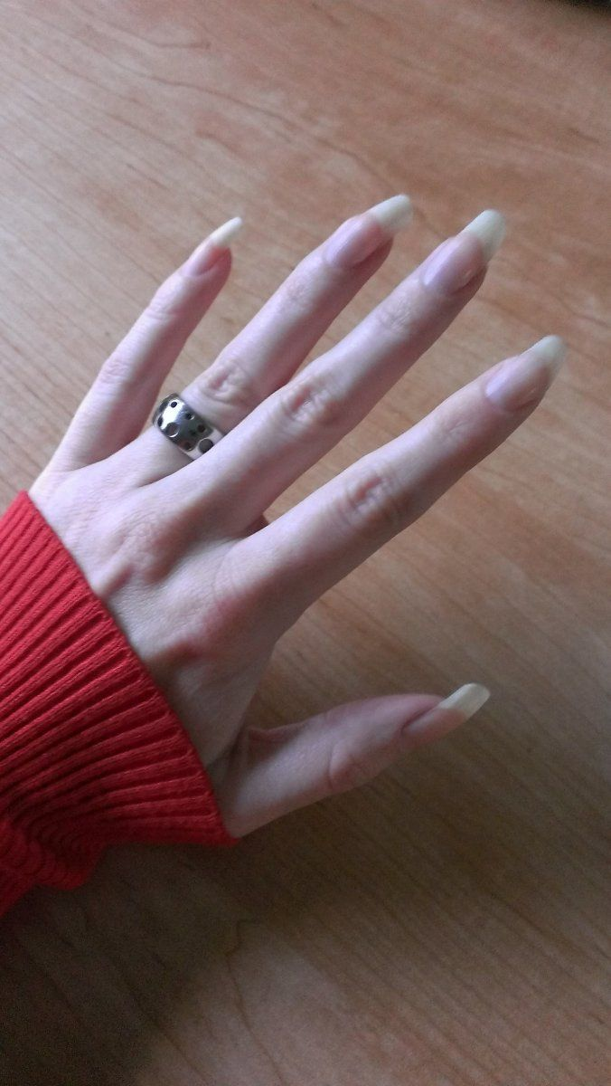 Naturally Long Fingernails. Bare, No Polish. This Is What