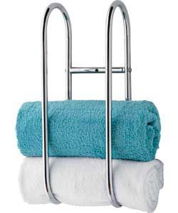 Buy Argos Home Wall Mounted Chrome Towel Holder Towel Rails And Rings Argos Wall Mounted Towel Holder Towel Holder Towel
