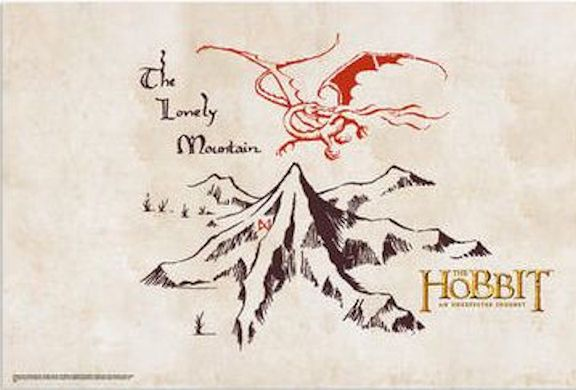 Superior LOTR Tattoo Idea   Smaug And The Lonely Mountain Sketch By Tolkien