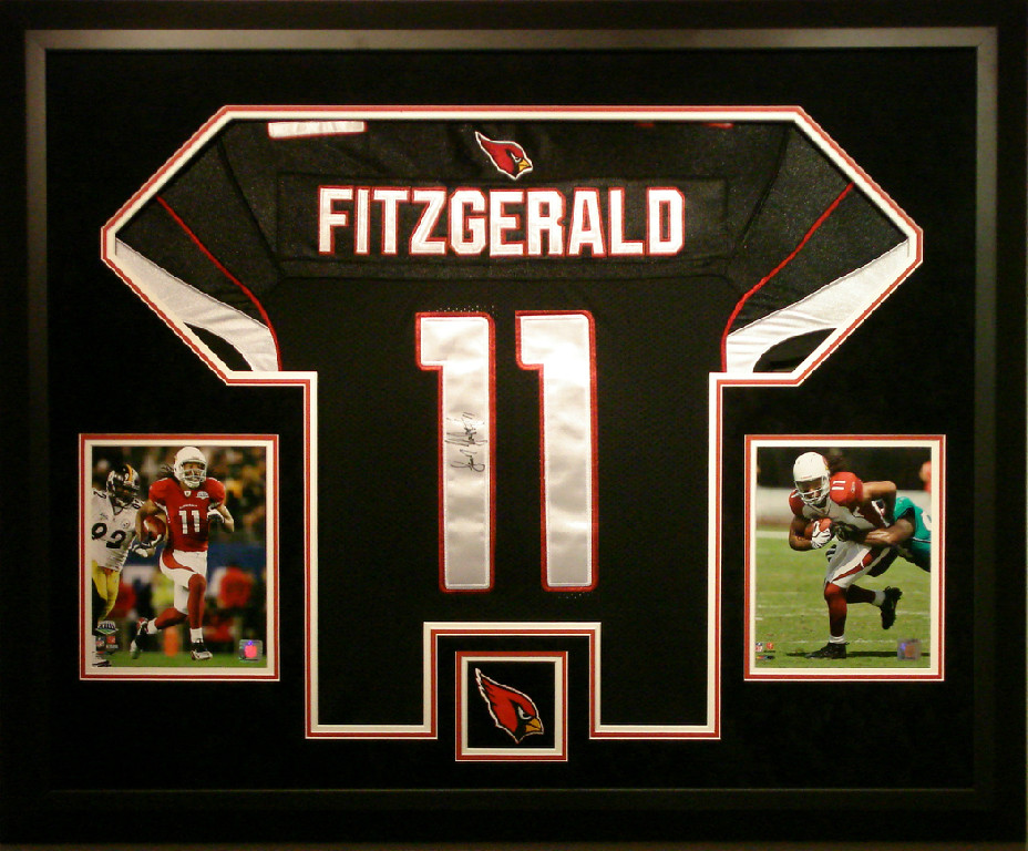 Larry Fitzgerald Signed Amp Framed Jersey Basement